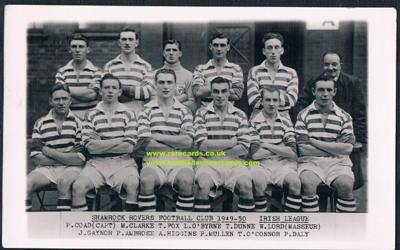 1949 Shamrock Rovers photocard Wilkes